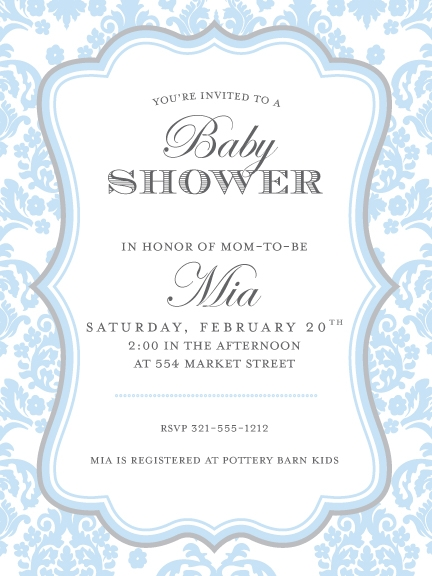 Scroll Baby Shower Invitations is nice invitations layout